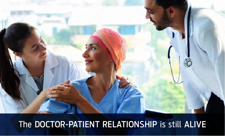 The doctor patient relationship is still alive