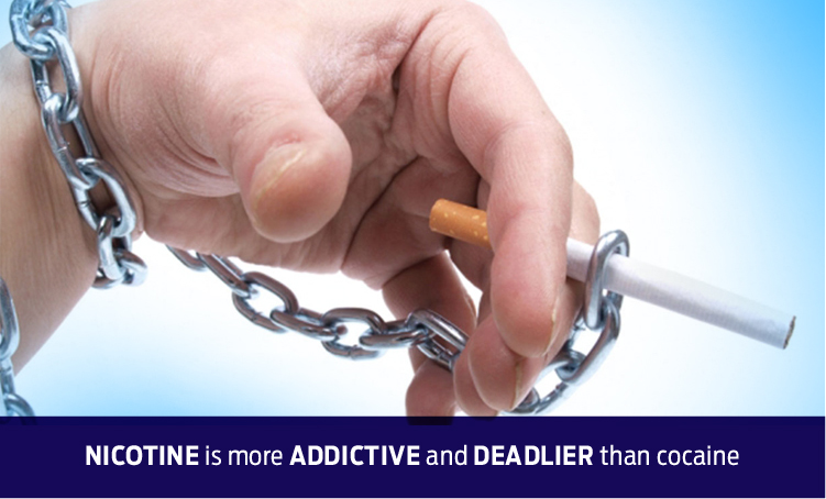 Nicotine is more addictive and deadlier than cocaine